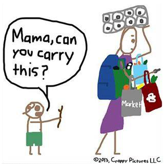 mom carrying it all